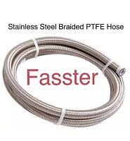 10 AN Black Nylon Braided Stainless Steel Hose W// Stainless Steel Inner Core