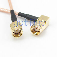 10inch RP SMA male plug to RP SMA male right angle  25cm RG316 RF Pigtail Cable