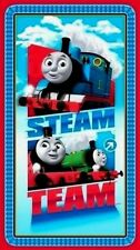 """THOMAS THE TANK  STEAM TEAM EXPRESS FABRIC  QUILTING TREASURES COTTON  23"""" PANEL"""