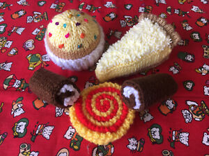 Hand Knitted Cakes - (Food)