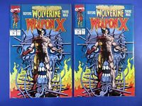 LOT OF 2 ~ WOLVERINE Weapon X #72 ~ 1991 MARVEL BRONZE AGE ~ NM/MT