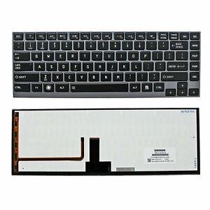 OEM Toshiba U800 U900 Z830 Z835 US Gray  Backlit Laptop Keyboard with Frame NEW