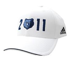 super popular be0ec a8835 Memphis Grizzlies adidas White NBA Playoffs Adjustable Basketball Cap Hat