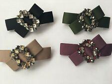 Elegant Fabric Knot Rhinestone Barrette Clip Hair Accessories 9 cm * 4.5 cm
