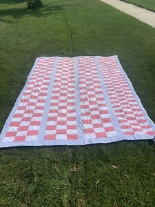 """Ralph Lauren Home Cotton Patchwork Quilt ~ Red White & Blue TWIN Sized 70""""x 90"""""""