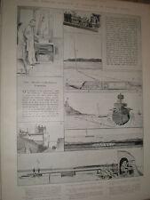 Inalámbrico de orientación de torpedos por ondas eléctrico 1903 impresión Ref X
