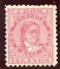 Cook Islands 1893 QV 2½d pale rose MLH. SG 16.