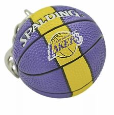 LA Lakers Spalding NBA Basketball Team Logo Mini Keychain New.
