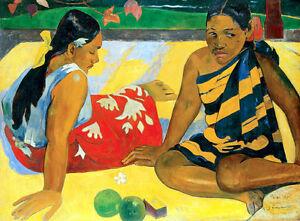 Whats News - Paul Gauguin A2 High Quality Canvas Art Print