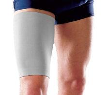 Grey Elasticated Thigh Hamstring Support Sleeve Wrap Protector Elastic Brace  UK