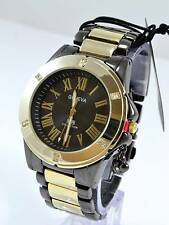 New Black Gold Cubic Zirconia Women's Geneva Wrist Watch #277