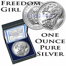 1oz 99.9% Pure Solid Silver 2013 Freedom Girl BU COA SOLD OUT Trivium Bullet