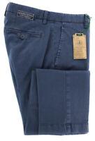 Neuf Luigi Borrelli Bleu Marine Pantalon - Extra Slim - 36/52 - (10SLIMCERNP012)
