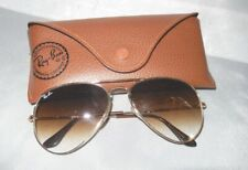 Ray Ban 3025 001/51 Gold Frame Aviator Gradient Lenses Sunglasses 58mm With Case