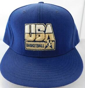 """USA Men's Basketball """"Dream Team"""" 8-0 Nike Fitted Gold Hat/Cap Size 7 5/8"""