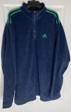 Adidas Fleece Men's Long Sleeve Pullover Shirt Half-Zip Size XL Blue Green