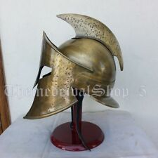 Rise of empire Medieval Spartan Helmet Steel Antique Style 300 Helmet With Stand