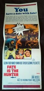"Fate Is The Hunter 1964 Vintage Insert Poster (14"" x 36"") Glenn Ford Nancy Kwan"