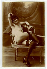 1910s Vintage Sexy French RISQUE NUDE Beauty risque photo postcard