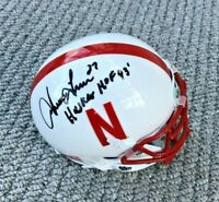 NEBRASKA FOOTBALL IRVING FRYAR #27 SIGNED MINI HELMET HUSKER HOF 1993 - PATRIOTS