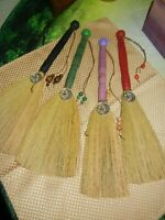 """Large 15""""  Altar  Besom Broom Wicca Hand Made ** Message with  Color"""