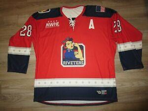 Metropolitan Riveters NWHL Hockey Jersey LG Large