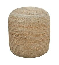 Handmade New Jute Hemp Made Natural Color Pouf 40x44 Cms For Bedroom