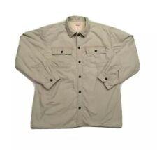 LEVI'S  Men's Khaki Sherpa Lined Button Down Pocket Shirt Jacket, Sz. XL