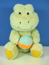 """8"""" Plush Animal Adventure Mint Green Frog with Easter Egg."""