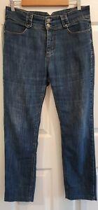 Ladies size 14 blue straight leg shortened denim jeans - Urban