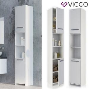 Vicco Mobiletto bagno Kiko Mobiletto alto Armadietto bagno 2 porte bianco