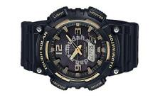 New Original Hommes DEL CASIO Amber Gold Tough Solar Black Watch AQ S810W 1A3VDF
