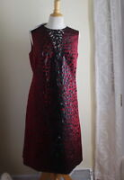 NWT Akris Sz 12 Unreal $4995 Silk Sheath Abstract Polka-Dot Art-to-Wear Dress