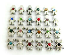 24pcs Birthstone Girl & Boy Floating Charms Fits for Glass Living Memory Locket