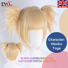 My Boku No Hero Academia Himiko Toga Light Blonde Ponytail Cosplay Wig Cap
