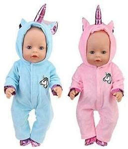 """18"""" 42CM Toy Baby Doll Unicorn Outfit Clothes"""