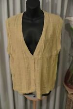 VINTAGE 80'S ~ EQUIPMENT ~ Silk/Cotton Cardigan VEST ~ Size M ~