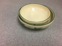 "Franciscan Green IVY 8 1/4"" & 7"" Round Vegetable / Serving Bowls"
