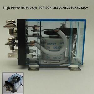 1 x Heavy Duty  High Power Relay 40F-58F-63F JQX-60FF/1Z 60A DC12V/DC24V/AC220V