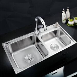 Kitchen Durable Handle Swivel Mixer Faucet Nickel Sink Liquid Soap Dispenser Tap