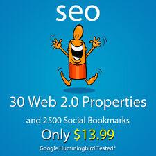 30 web 2,0 properties,2500 social bookmarks backlinks google friendly