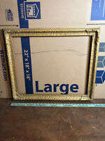 """Vintage Victorian Gesso Frame Fits 18"""" by 22"""" Painting"""