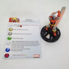 Heroclix Amazing Spider-Man set Terrax #045 Super Rare figure w/card!