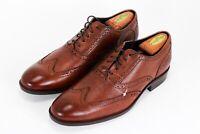 Men's Cole Haan Wayne Cap Toe Oxford Leather British Tan brown C30689 Size 11.5