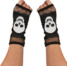 Goth Emo Steampunk Fancy Sexy Skeleton Bone Collection Fingerless Mesh Gloves UK