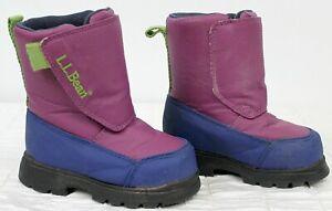 LL Bean Toddler Snow Boots Sz 6 Winter Waterproof Purple Blue