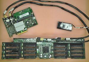 DELL R910 Server 16 port SFF Backplane DP/N 0J565K w/ H700/512MB BBWC RAID Card