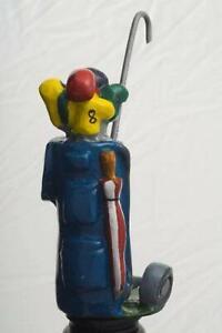 GOLF BAG BLUE Bottle Stopper - Laureston - GREAT GIFT IDEA