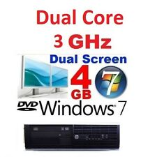 Fast HP Intel Dual Core 3ghz Windows 7 4gb Gaming Desktop PC Computer 250gb