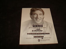 TIM ALLEN 1999 ad for HOME IMPROVEMENT in being #1 on TV & for THE SANTA CLAUSE